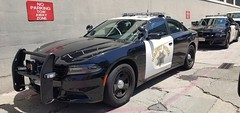 Pair of California Highway Patrol Dodge Chargers in the wrong parking zone (Caleb O.) Tags: chp dodge charger