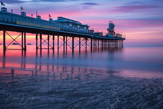 Paignton Pier just before sunrise