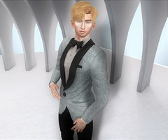 Shine Bright (EnviouSLAY) Tags: davidheather dh david heather taketomi clubtaketomi club group suit tux formal glasses clear blond scene secondlifefashion secondlifephotography newreleases new releases blue powder platinum sparkling shinning stunning fameshed monthlyevent monthlyfashion monthlyfair monthly fair event fashion pale male gay blogger secondlife second life photography coldash cold ash