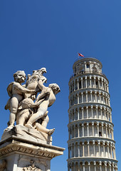 Tower of Pisa (piginka) Tags: europe europeunion italy italianculture pisa tower architecture art ancient old unesco outdoors photography angel arch sculpture famousplace statue travel marble history vertical tuscany