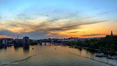 Årstviken (Tube Séboom) Tags: city sunset sky dusk water skyline fuji xf18mmf2 xpro1 fujifilm