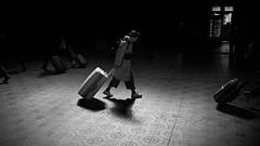 Suitcase walk (Bjarne Erick) Tags: traveler traveling suicase luggage onthemove limelight street