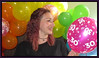 Party Girl (M E For Bees (Was Margaret Edge The Bee Girl)) Tags: party balloons pink green orange colours happy smile 30 numbers indoors canon