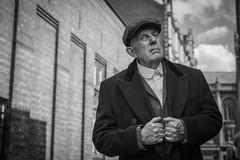 Peaky Blinder (MX Man) Tags: godox d 360 one strobe pony black white peaky blinder birmingham england professional male model fuji x t 2 1650 f 28 law courts steel house lane lock up