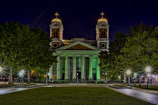 Cathedral Basilica of the Immaculate Conception, 2 South Claiborne St, Mobile, Alabama. USA / Built: 1850 / Architect: Claude Beroujon / Architectural Style: Greek Revival / Building Material: Brick / Floors (above ground) 1.5 / Floors (below ground) 1