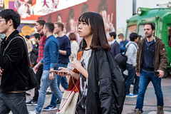 Life Is A Good Connection (burnt dirt) Tags: asian japan tokyo shibuya station streetphotography documentary candid portrait fujifilm xt1 laugh smile cute sexy latina young girl woman japanese korean thai dress skirt shorts jeans jacket leather pants boots heels stilettos bra stockings tights yogapants leggings couple lovers friends longhair shorthair ponytail cellphone glasses sunglasses blonde brunette redhead tattoo model train bus busstation metro city town downtown sidewalk pretty beautiful selfie fashion pregnant sweater people person costume cosplay bag orange black white red