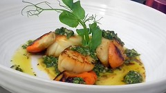 Seared Scallops with Anchovy, Mint, Coriander and Lime Dressing (Tony Worrall) Tags: add tag ©2018tonyworrall images photos photograff things uk england food foodie grub eat eaten taste tasty cook cooked iatethis foodporn foodpictures picturesoffood dish dishes menu plate plated made ingrediants nice flavour foodophile x yummy make tasted meal nutritional freshtaste foodstuff cuisine nourishment nutriments provisions ration refreshment store sustenance fare foodstuffs meals snacks bites chow cookery diet eatable fodder searedscallopswithanchovy mint corianderandlimedressing shellfish scallop oil