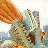 tgwb (woodcum) Tags: building damaged half hands wallet money dollar bill surreal collage retro vintage color