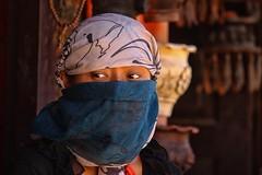 Bakhtapur, Nepal (dderici) Tags: portrait nepali woman mask bakhtapur nepal canon canon7d canon70200