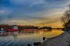 Evening River Traffic (kendoman26) Tags: hdr nikhdrefexpro2 illinoisriver tugboat evening sunset sky morrisillinois nikon nikond7100 tokinaatx1228prodx tokina tokina1228 travelillinois enjoyillinois