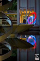BALANCE (Imaginoor Photography) Tags: ngc architecture dna helix hossain imaginoorphotography lightpainting night orb reflection science seattle shehab