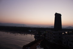 Good Morning Murdeshwar. (SujithPhotography) Tags: murdeshwar karnataka karnatakatourism karnatakaworld gopura arabian sea ocean morning hill