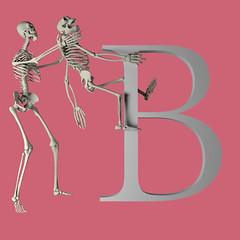 Letter B (khybinette) Tags: maya render cgi granbury texas evil childrens b alphabet monkey skeleton book red orange sweden