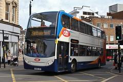 Stagecoach East 19703 AE60JSX (SlightlyReliable70) Tags: stagecoach midlands northampton east bedford 36207 15453 37062 19703 peterborough citi 9 9a dunston drapary bus group alexander dennis enviro 200 adl e200 400 e400