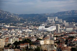 1N6A2345. Marseille et le stade vélodrome.