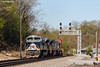 Tall and Handsome (nrvtrains) Tags: 236 christiansburgdistrict sunny cambriast christiansburg cambria intermodal heritageunit signals norfolksouthern wabash virginia unitedstates us