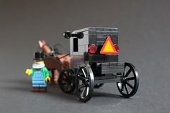 Amish Buggy (sponki25) Tags: amish buggy horse drawn carriage black lego moc