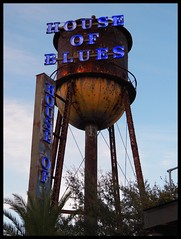 House of Blues (Dusty_73) Tags: rusty water tower neon sign house blues disney springs orlando florida fl usa united states america