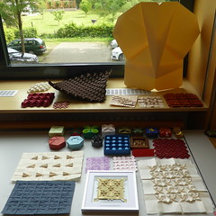 My origami display at Origami Deutschland Jahrestreffen, Erkner 2018 (Michał Kosmulski) Tags: origami display exhibition convention meeting origamideutschlandjahrestreffen germanorigamiconvention origamide2018 erkner berlin germany michałkosmulski