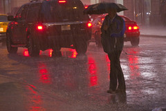 Heavy Thunderstorm and Downpour Downtown Chicago Illinois 5-14-18  1494 (www.cemillerphotography.com) Tags: rain flood torrential cloudburst theloop pedestrians traffic westadamsstreet wet soaked drenched soggy umbrellas puddles jumper rushhour commuter