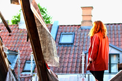 Sunset Under the Roof (SnapMashSend) Tags: color sunset redhead redhair aarhus denmark