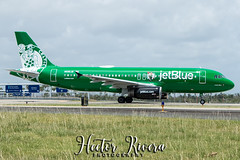 N595JB Boston Celtics (Hector A Rivera Valentin) Tags: registration n595jb airline jetblue airways aircraft airbus a320232 airport san juan luis munoz marin intl tjsj boston celtics nba basketball canon70d fotografia photography photographer adobe photoshop lightroom nick collection google