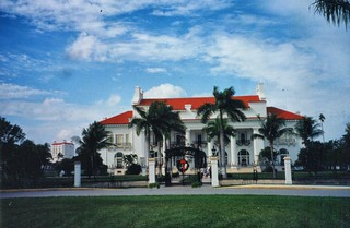 Whitehall - Flagler Museum - Exterior - Architecture Neoclassical -  Beaux-Arts - Palm Beach  Florida