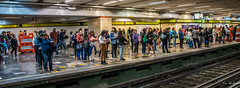 2018 - Mexico City - Centro Medico Metro Station (Ted's photos - For Me & You) Tags: 2018 cdmx cityofmexico cropped mexico mexicocity nikon nikond750 nikonfx tedmcgrath tedsphotos tedsphotosmexico vignetting metro mexicocitymetro traintracks trainstation people peopleandpaths widescreen wideangle