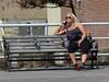 On The Phone (Multielvi) Tags: atlantic city new jersey nj shore boardwalk bench woman candid