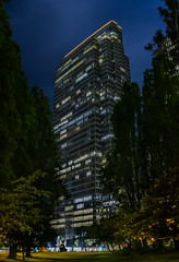 four embarcadero center (pbo31) Tags: sanfrancisco california nikon d810 color april 2018 spring boury pbo31 night dark black panoramic large stitched panorama financialdistrict city urban embarcaderocenter 4 tower contemporary architecture