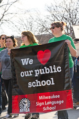 Milwaukee Public School Teachers and Supporters Picket Outside Milwaukee Public Schools Adminstration Building Milwaukee Wisconsin 4-24-18  1096 (www.cemillerphotography.com) Tags: education k12 economics funding cuts bureaucrats superintendentdariennedriver schoolboard wisconsin governorscottwalker schoolclosings charterschools blacks africanamerican latino hispanic minority innercity learning kids children busing vouchers privatization segregation racism public specialneeds arts music libraries student pupil