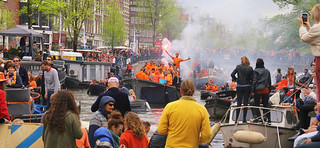 Dutch King's Day party on the boats