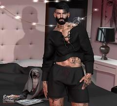 . EohB . #Catwa #Modulus #Straydog #DAPPA #Gild #Cheerno (Crayolas Clothes) Tags: catwa modulus straydog dappa gild cheerno fashion divo gay guy men man male dude buddy pijama secondlife sl slfashion slme slfashionmen avatar blogger pijamada night bed cover blanker magazine lamp frame black grey red bang beard sexyaf af manly