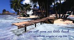The little beach open !! (ЙёКσ (nyanko33)) Tags: firestorm secondlife beach landmark location relaxbeach