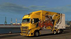 ([johannes]) Tags: ets2 euro truck simulator 2 exceptionnel way road ristimaa trucking tuning trailer transport trucks transit thermo yellow style super bee skin stiholt volvo lkw lastkraftwagen lights ekeri customs euro6 intercooler