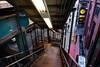 Marcy Avenue down (grapfapan) Tags: brooklyn newyorkcity ubahn usa williamsburg railways travel stairs subway street