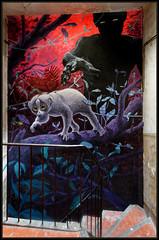 Muga (Gramgroum) Tags: street art graffiti mur mural muralisme marseille escalier lori chaine alimentaire chasse extinction homme muga papillon