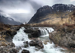 Glen Coe waterfalls (OutdoorMonkey) Tags: river water waterfall rock mountain mountainside glencoe rivercoe scotland scottish outside outdoor countryside scenery nature natural landscape