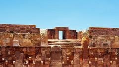 Tiwanaku - the Kalasasaya (lee paqui) Tags: stonework bolivia tiwanaku kalasasaya