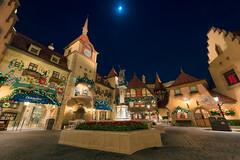 Germany Pavilion & the Moon (TheTimeTheSpace) Tags: waltdisneyworld disneyworld disney epcot worldshowcase germany germanypavilion moon stars nikond810 nikon142428