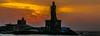Sun peeps out (Balaji Photography - 4.8M views and Growing) Tags: sun sunrise dawn india nature scenicsky indianphoto indiatravel travel touristspots canon canon70d silhouette 5photosaday naturesky colourfulsky kanyakumari orange sky morningsky daybreake sea ocean day flickr waves
