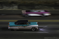 Classic Cars on the Malecon (Snappy_Snaps) Tags: cuba havana caribbean classic cars malecon nightshot classiccars