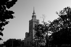 The Eighth Sister (_andromaka_) Tags: building tower varsaw varsovia bw blackandwhite