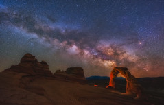Delicate Skies Over Moab (Darren White Photography) Tags: milkyway delicatearch nightphotography lll sigmalens darrenwhite utahlandscapes