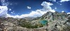 Panorama over Cabin Lake and the Shadow Creek and Lake Drainage (Bruce Lemons) Tags: sierranevada mountains backpacking hike hiking wilderness landscape california lake panorama cabinlake shadowlake shadowcreek volcanicridge anseladamswilderness