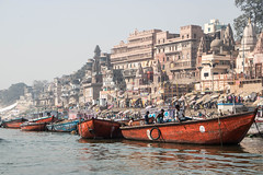 Fishing on the ganges. (rawdocument) Tags: varanasi uttar pradesh india asia travel photography fishing ganges river
