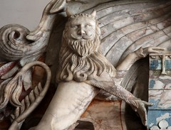 Sympathy for the Devil (richardr) Tags: devil lion heraldry monument chapel leicestershire midlands themidlands bradgatepark bradgate park sculpture building architecture england english britain british greatbritain uk unitedkingdom europe european old history heritage historic demon