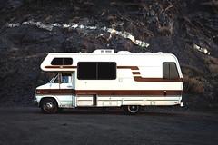 The Camper (SebRiv) Tags: chevy rock camper beige winnabago automotive california leicam10 voigtlander nokton 35mm rocher pierre lines lignes rappel visuel visual recall nature trip road ontheroad roadtrip mimétisme