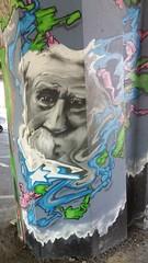 Under the bridge (Red Cathedral [FB theRealRedCathedral ]) Tags: graffiti wilrijk a12 streetart urbanvandals urbanart boomsesteenweg antwerpen bridg urban vandals art aé einstein face