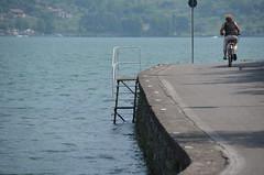 cycling (Hayashina) Tags: monteisola italy cycling lake road
